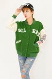 春秋新款韩版加厚棒球服学院风字母刺绣大码宽松显瘦长袖外套女