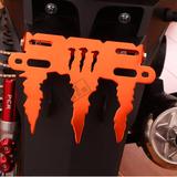 摩托车牌照框个性踏板电瓶车牌照架电动助力鬼火迅鹰改装饰配件