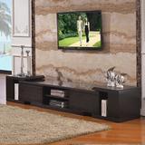 华人顾家电视柜简约现代客厅地柜小户型钢化玻璃可伸缩电视柜1183