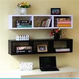宜家创意日型搁板书架/钉在墙上的置物架壁挂隔板吊书柜装饰格子