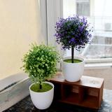 拍4减1,居家装饰品仿真植物盆栽套装客厅室内房间小摆件创意个性