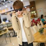 秋冬天加绒棉袄子韩版学生外套中长款棉衣男装冬季青少年修身棉服