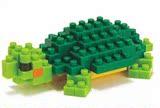 nano block 日本河田 nanoblock 模型 拼装 积木 玩具 绿乌龟积木