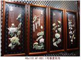 中式客厅办公室春夏秋冬装饰画沙发背景画走廊墙画玉雕画四联挂画