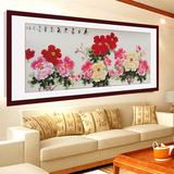 牡丹国画纯手绘花鸟画6尺横幅写意画客厅挂画名家真迹包邮装裱