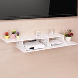 创意简约现代墙上隔搁板路由器猫电视机顶盒置物架子支架壁挂壁饰