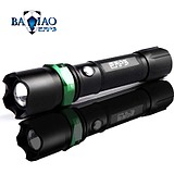 巴乔户外强光手电筒 骑行照明Q5远射LED迷你调焦变焦家用可充电筒