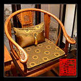 仿古红木沙发坐垫实木中式家具座垫官帽皇宫圈椅海绵加厚棕垫定做