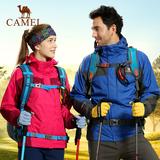 骆驼冲锋衣户外女装 正品新款防水耐磨两件套三合一外套A4W168019
