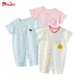 婴幼儿婴儿夏装宝宝衣服新生儿连体衣短袖哈衣爬服男女0-1岁