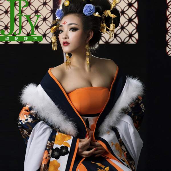 武媚娘传奇武则天秘史范冰冰女古装同款霸气华丽贵妃装服装皇后服商品图片