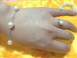纯天然 高雅珍珠戒指