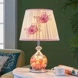 欧式台灯卧室床头灯田园公主简约现代创意婚房玻璃喂奶灯小夜灯