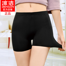 Ice Jie ice wire safety pants female anti-walking panties Summer thin big code outside wear unmarked insurance pants three-point shorts