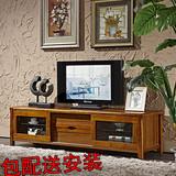 新款中式实木电视柜小户型地柜乌金木色液晶电视柜现代客厅家具