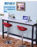 包邮现代简约家用吧台桌餐桌客厅隔断实木酒吧吧台烤漆靠墙电脑桌