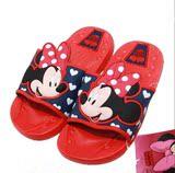包邮迪士尼儿童男女童夏季居家可爱卡通浴室防滑拖鞋