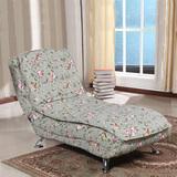 卧室单人沙发床多功能折叠布艺休闲皮躺椅欧式贵妃椅榻可拆洗