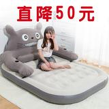 创意龙猫懒人沙发床 单双人卡通榻榻米床垫 可爱充气小沙发靠背椅