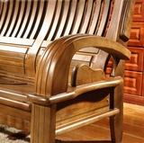 特价全实木现代宜家香樟木小户沙发组合客厅简约纯木沙发家具套装