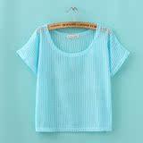 短款镂空罩衫针织衫女套头薄夏宽松日系甜美蝙蝠衫网衫短袖外搭女