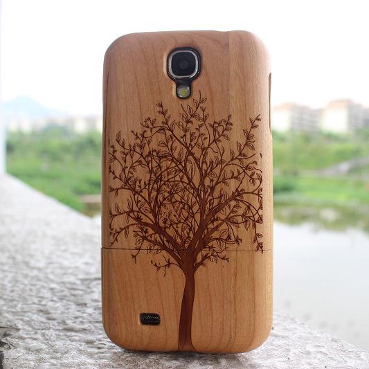 irst 三星galaxy s4手机保护壳 i9500 i9508木头壳 实木木质外壳