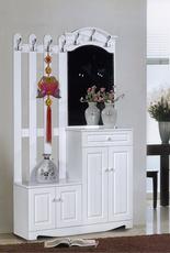 韩式门厅柜 衣帽柜挂衣架鞋柜组合 欧式玄关柜隔断柜 烤漆