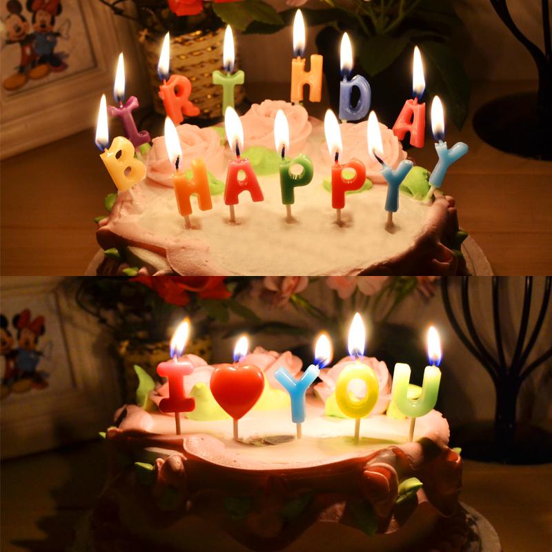 儿童生日派对 新款彩色 生日蜡烛 创意数字蜡烛 无烟生日蛋糕蜡烛