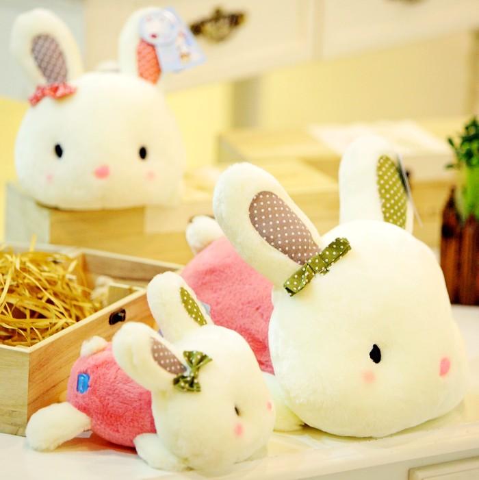 趴趴兔公仔毛绒玩具批发蝴蝶兔兔娃娃小兔子玩偶儿童