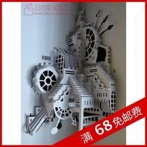 导购械纸模网上商城 钢铁侠头盔纸模图纸 导购械纸模排行高清图片