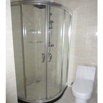 精品简易扇形淋浴房 浴室房卫生间玻璃隔断推拉移门屏风