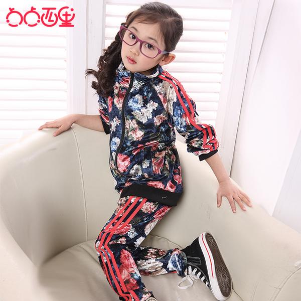 点点西里2013新款韩版秋装 儿童装女童 韩国绒运动 _: