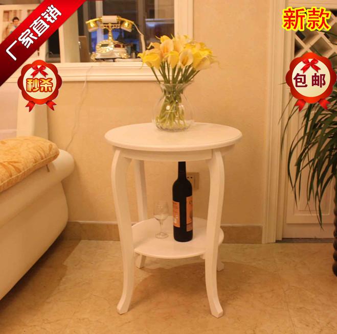 欧式沙发边桌实木简约现代小茶几边几角几电话桌小