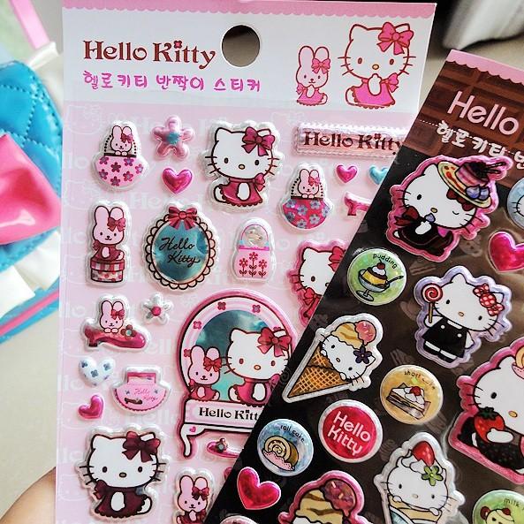 贴画小手机贴画-韩国贴纸进口正版Hello Kitty凯蒂猫 卡通日记贴纸 立体装饰贴纸