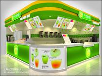 卖店设计/奶茶店甜品店面店铺服装店装修效果图施工图设计