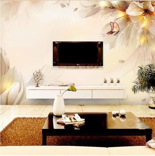 大型壁画客厅电视背景墙壁纸壁画无纺布3d墙纸卧室简约现