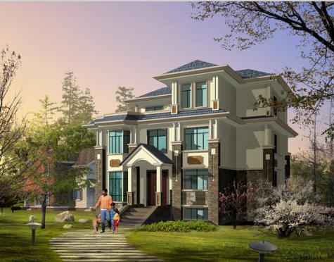 二层三层农村欧式小别墅设计图纸2农村自建房设计u整套建筑施工图