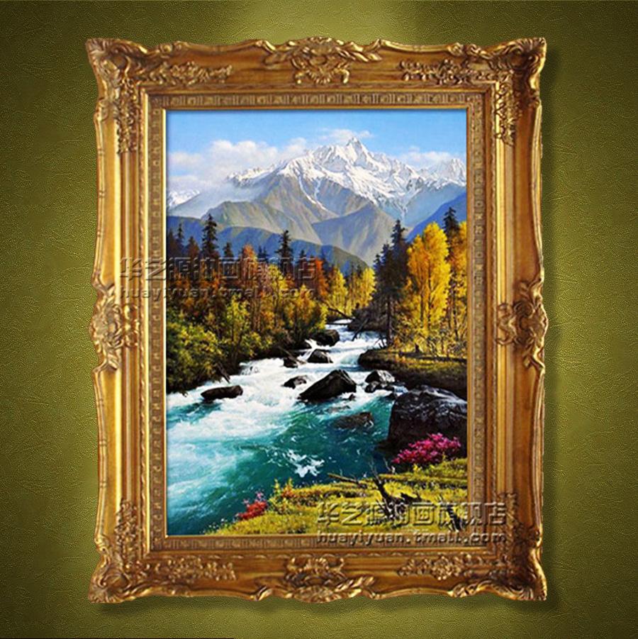 华艺源纯手绘油画客厅油画装饰画壁画油画简欧欧式油画古典风景l