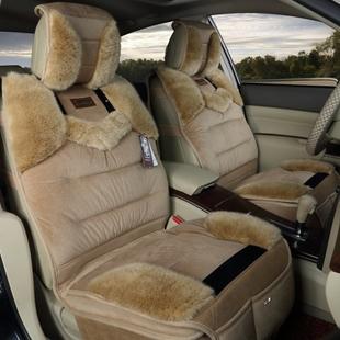新款冬季汽车坐垫羽绒毛绒车座垫上海大众新桑塔纳志俊 朗高清图片