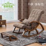 中式家具老年人阳台户外摇椅躺椅特价高档单人实木睡椅午睡沙发椅