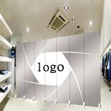 公司屏风工作单位办公室隔断时尚客厅酒店玄关定做制logo折叠屏障