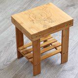 正品热卖实木矮凳 创意穿鞋凳 儿童卡通板凳 多功能组装小凳子洗