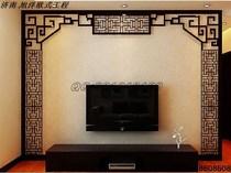 雕花板镂空板树通花板吊顶玄关隔断电视背景墙屏风