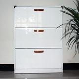 美式超薄鞋柜现代简约烤漆组装宜家翻斗柜小户型实木玄关柜包邮
