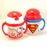 日本代购直邮SKATER hello kitty 婴幼儿吸管杯有双手柄喝水杯子