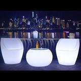 小号酒桌七彩led组合发光桌椅户外发光靠背椅酒吧凳遥控茶几吧台