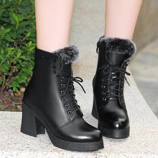 2013新款红蜻蜓女靴 真皮棉靴子 时尚潮流舒适保暖长筒靴 高清图片