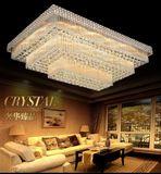 欧式长方形水晶灯客厅灯现代简约大气卧室灯LED吸顶灯餐厅灯饰