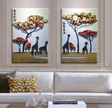 hi纯手工油画 欧式壁画简约浮雕立体挂画客厅卧室电表箱装饰画