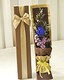 单支只一朵蓝色妖姬蓝玫瑰礼盒永生花鲜花情人节生日全国上海配送
